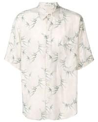 Chemise à manches courtes imprimée beige Etro