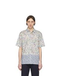 Chemise à manches courtes imprimée beige Paul Smith