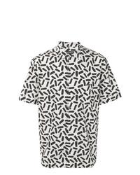 Chemise à manches courtes imprimée blanche et noire Dolce & Gabbana