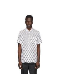 Chemise à manches courtes imprimée blanche et noire Neil Barrett