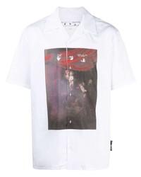 Chemise à manches courtes imprimée blanche Off-White
