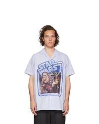 Chemise à manches courtes imprimée bleu clair Etro