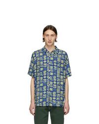 Chemise à manches courtes imprimée bleue Noon Goons