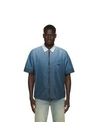 Chemise à manches courtes imprimée bleue Off-White