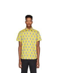 Chemise à manches courtes imprimée jaune Kenzo