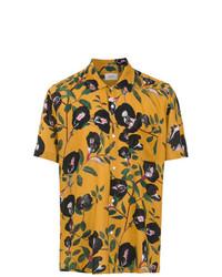 Chemise à manches courtes imprimée jaune OSKLEN