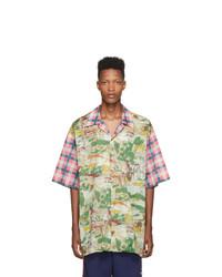 Chemise à manches courtes imprimée multicolore Gucci