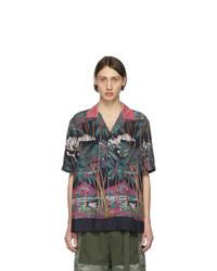 Chemise à manches courtes imprimée multicolore Sacai