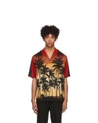 Chemise à manches courtes imprimée multicolore Wooyoungmi