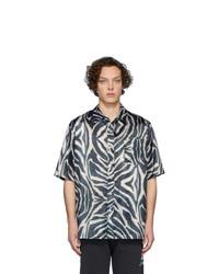 Chemise à manches courtes imprimée noire et blanche Han Kjobenhavn