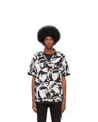 Chemise à manches courtes imprimée noire et blanche Ksubi