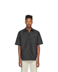 Chemise à manches courtes imprimée noire et blanche Marcelo Burlon County of Milan
