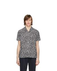 Chemise à manches courtes imprimée noire et blanche Officine Generale