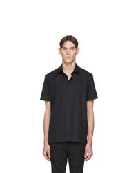 Chemise à manches courtes imprimée noire Neil Barrett