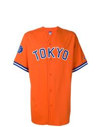 Chemise à manches courtes imprimée orange Champion