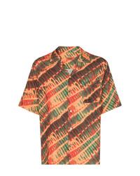Chemise à manches courtes imprimée orange Missoni