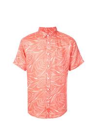 Chemise à manches courtes imprimée orange Onia
