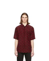 Chemise à manches courtes imprimée rouge 424