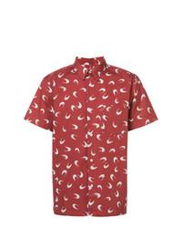 Chemise à manches courtes imprimée rouge A.P.C.