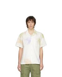 Chemise à manches courtes imprimée tie-dye multicolore