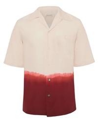 Chemise à manches courtes imprimée tie-dye rose Alexander McQueen
