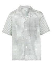 Chemise à manches courtes imprimée vert menthe Kenzo