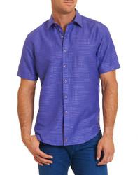 Chemise à manches courtes imprimée violette