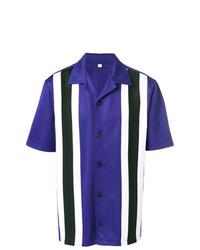 Chemise à manches courtes imprimée violette AMI Alexandre Mattiussi