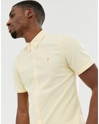 Chemise à manches courtes jaune Farah