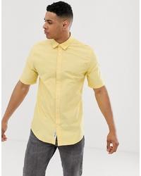 Chemise à manches courtes jaune ONLY & SONS