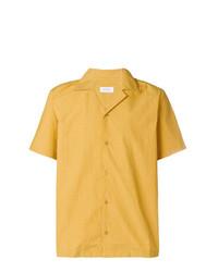 Chemise à manches courtes jaune Saturdays Nyc