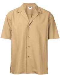Chemise à manches courtes marron clair