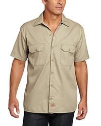 Chemise à manches courtes marron clair Dickies