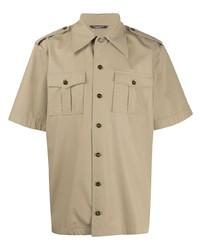 Chemise à manches courtes marron clair Dolce & Gabbana