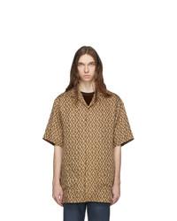 Chemise à manches courtes marron clair Gucci