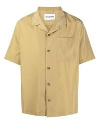 Chemise à manches courtes marron clair Han Kjobenhavn