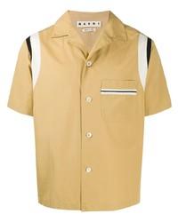 Chemise à manches courtes marron clair Marni