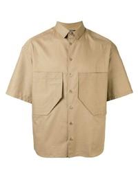 Chemise à manches courtes marron clair Neil Barrett