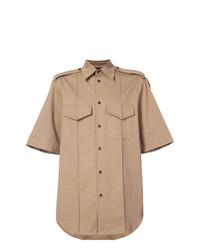 Chemise à manches courtes marron clair Yang Li