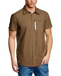 Chemise à manches courtes marron 2117 of Sweden