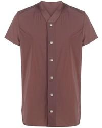 Chemise à manches courtes marron Rick Owens