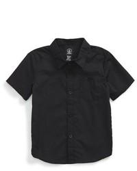 Chemise à manches courtes noire