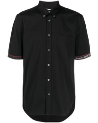 Chemise à manches courtes noire Alexander McQueen