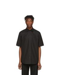 Chemise à manches courtes noire Balenciaga