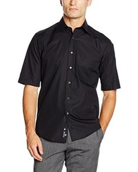 Chemise à manches courtes noire Casamoda