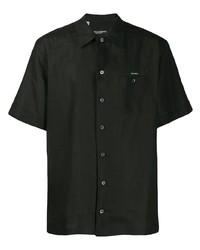 Chemise à manches courtes noire Dolce & Gabbana