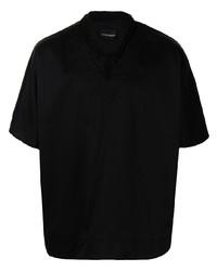 Chemise à manches courtes noire Emporio Armani