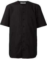 Chemise à manches courtes noire Givenchy