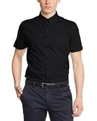 Chemise à manches courtes noire Merc of London