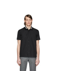 Chemise à manches courtes noire Neil Barrett